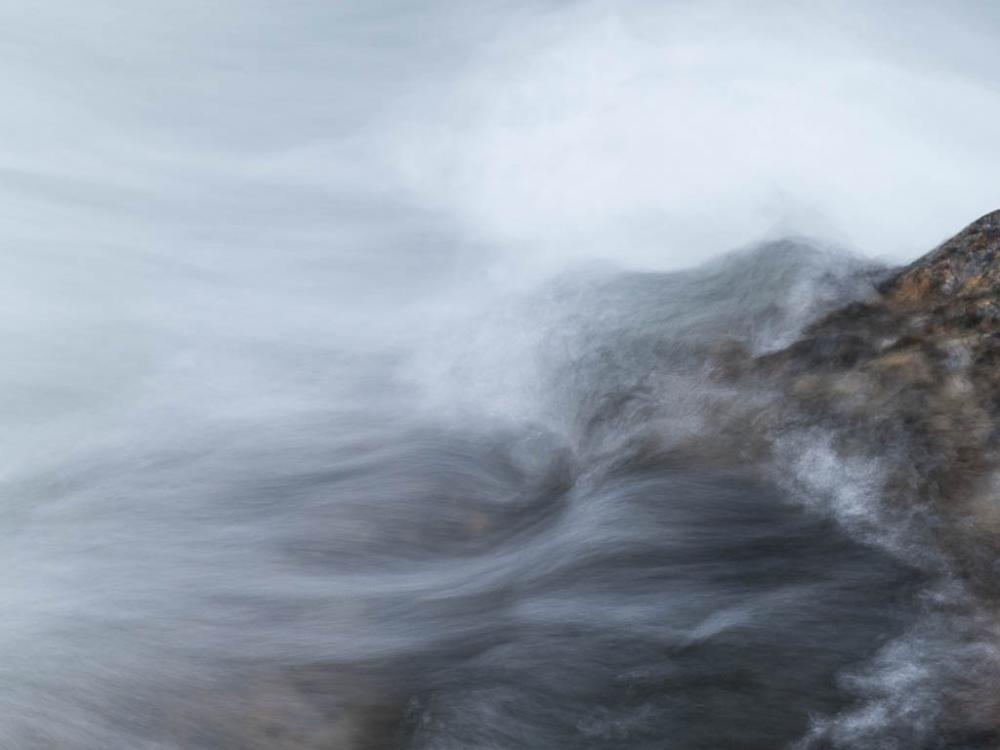 Flowing water and rocks