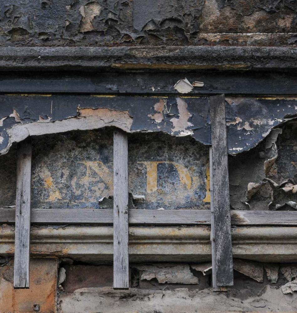 Derelict shop front